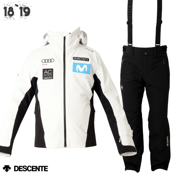 1819 DESCENTE SPAIN TEAMWEAR SPW+PANTS BK/DWMMGK26+DWMMDG03 (데상트 스페인 스키팀복 상하의 세트 SPW+BK)