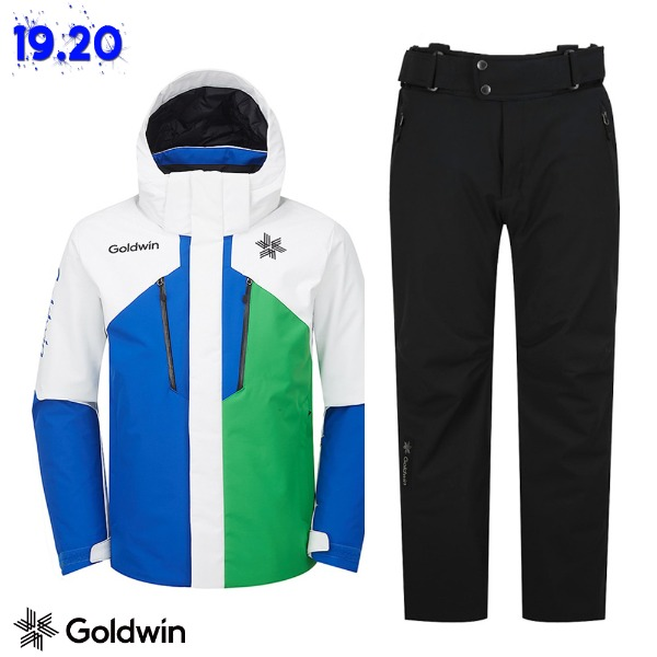 1920 GOLDWIN ALPINE JACKET(GJ2NK51B) BLU + 1819 ALPINE PANTS(GP6NJ52E) BLK (골드윈 알파인자켓+팬츠 스키복 상하의세트)