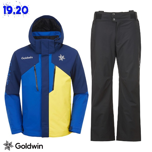 1920 GOLDWIN ALPINE JACKET(GJ2NK51B) NAVY + 1920 ALPINE PANTS(GP6NK51B) BLK (골드윈 알파인자켓+팬츠 스키복 상하의세트)
